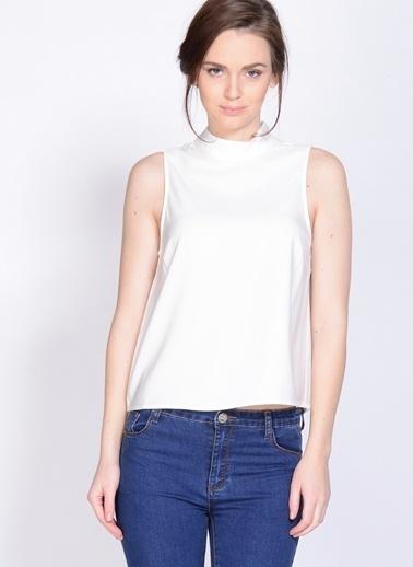 Neon Rose Neon Rose Koyu Natürel Kadın Bluz Beyaz